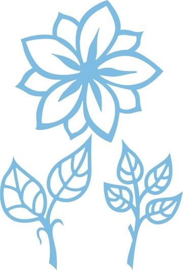 Marianne D Creatables Blume u. Blätter/flower and leaves LR0156
