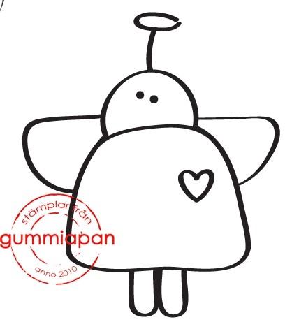 Gummiapan Stempelgummi Engel mit Heiligenschein MEDIUM / Mellan Maria 17030105