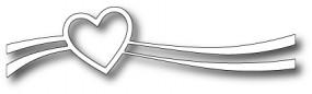 Poppystamps Stanzform Heart Swoosh 1359