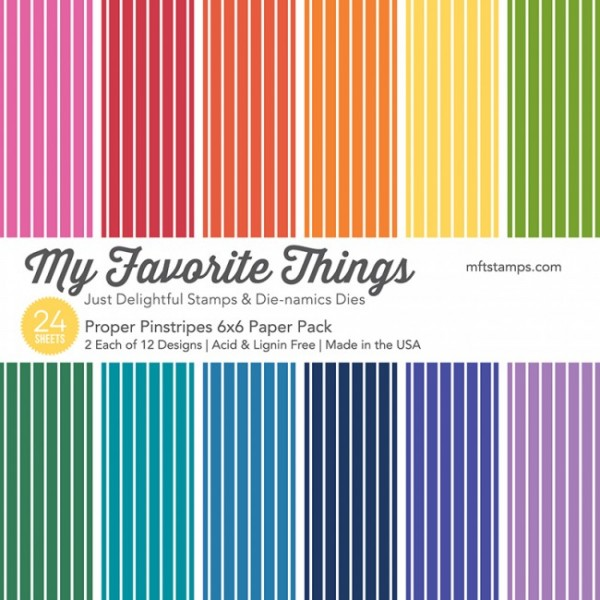 """My Favorite Things Paper Pack 6"""" x 6 """" PROPER PINSTRIPES EP-22"""