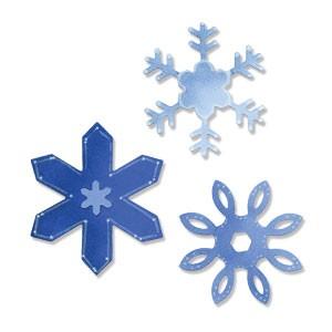 Sizzix Stanzform Sizzlits MEDIUM 3-er Schneeflocken # 3/snowflakes # 3 656287