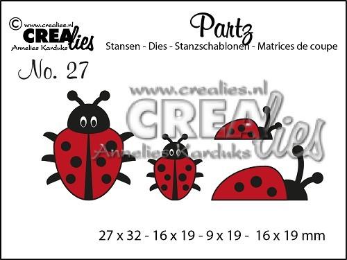 Crealies Partz Nr.27 Marienkäfer CLPartz27