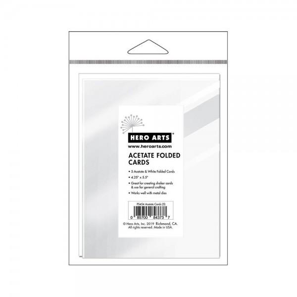 "Hero Arts Acetate Cards w/ Envelopes 4 "" x 5,25 "" PS454"