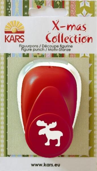 Motivstanzer X-mas Collection Rentier ( rot )