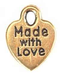 "Herz-Anhänger GOLD "" Made with Love "" 1975-78"