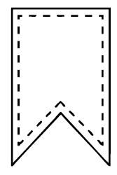 Dini Design Stempelgummi Banner mit Naht klein Nr. 76