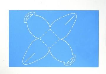 Schablone Tasche mit Henkel 33351 ( Pergamano ) ( blau )