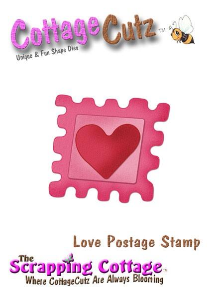 CottageCutz Herz-Briefmarke / Love Postage Stamp SC CC-Mini-040