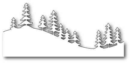 Memorybox Stanzform Border kurvig mit Kiefern-Bäume / Fresh Pine Curved Border 99503