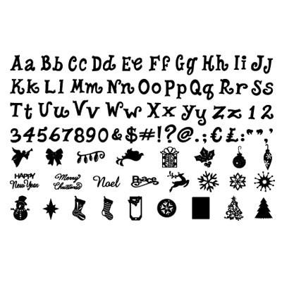 Ecliipse Cartridge Christmas & Traditions Alphabet 656 888
