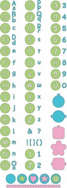 Cuttlebug Alphabet Baby Face 115639/6011 ( 37-1053 )