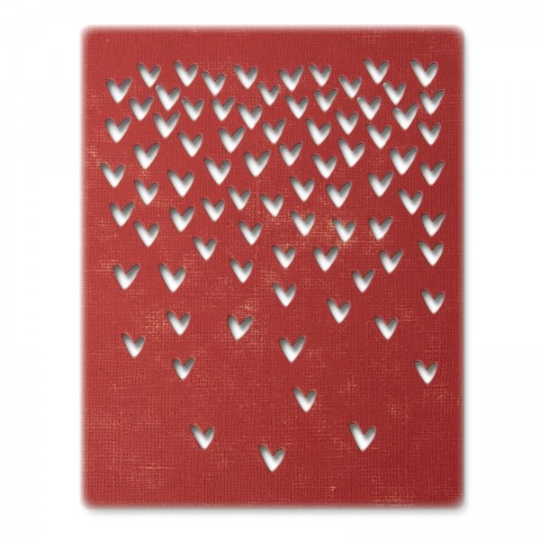 Sizzix Stanzform Thinlits fallende Herzen / Falling Hearts 664415