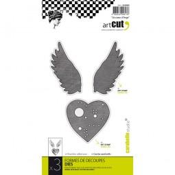 Carabelle Studio Stanzform Herz & Flügel / An Angel Heart AC60006