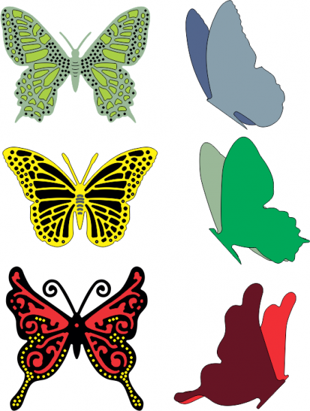 Cheery Lynn Stanzform Small Exotic Butterflies # 2 w DL113AB