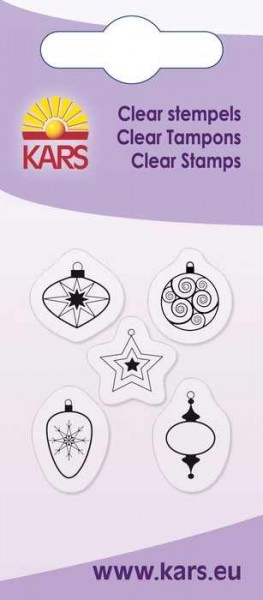 Clear Stempel 5 x Weihnachtskugeln 180009/2028
