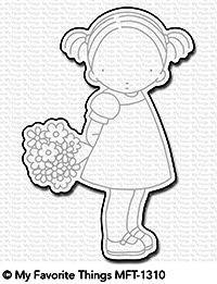 Dienamics Stanzform Mädchen mit Blumenstrauß / Love You A Bunch MFT-1310