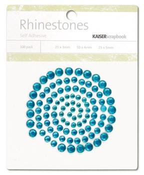 Rhinestones / Glitzersteine selbstklebend TÜRKIS SB775