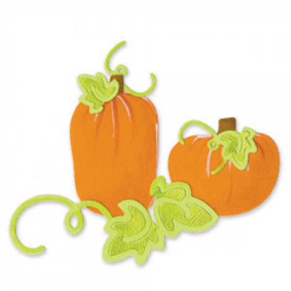 Sizzix Stanzform Sizzlits SMALL 3-er Sizzlits 3-er Pumpkins, Leaves & Vines Set 655588