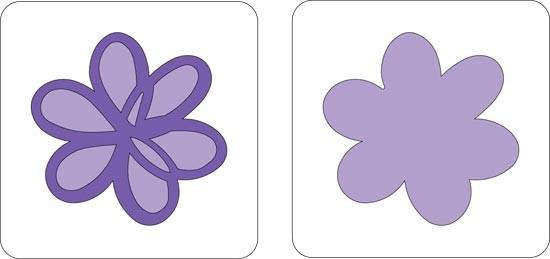 Cuttlebug Stanzform 2-er Blume scribble / scribble flower 37-1094
