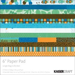 "Paper Pad Hey Jungel Bug 6 "" x 6 "" ( 15,2 x 15,2 cm ) PP822"