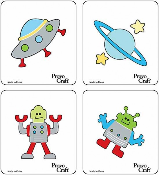Cuttlekids 4-er Set Weltall / space fun 62-0047