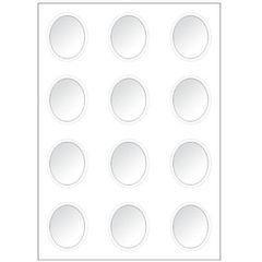 Klarsichtfenster OVAL 7,5 cm x 10 cm 9820