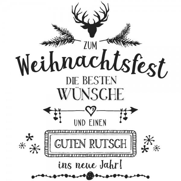 Rayher Holzstempel \' zum Weihnachtsfest die besten Wünsche und einen ...