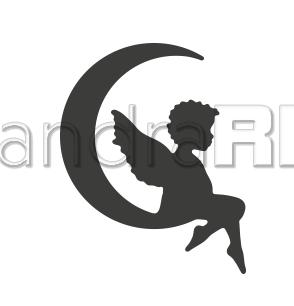 Alexandra Renke Stanzform ' Mini Engel im Mond ' D-AR-EN0005