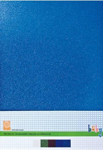 Cart-Us Glitterkarton-Set BABY BOY A 4 980010/0092 ( blau )