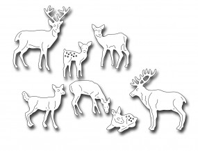 Frantic Stampers Stanzform Hirsch-u. Reh-Familie / Herd of Deer FRA-DIE-10035
