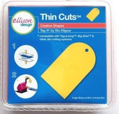 Ellison Design Thin Cuts Stanzform Anhänger # 1 / tag # 1 22227