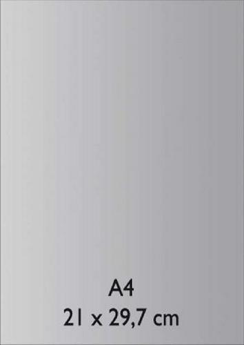 Pearl Papier A 4 PLATIN mit Klebefolie