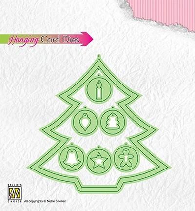 Nellie Stanzform Hanging Card Die Weihnachtsbaum / Christmas Tree HCD001