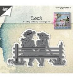 Joycrafts Stanzform Paar auf Bank / Bench 6002/0943