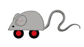 Spielzeug-Maus / mouse toy 0667