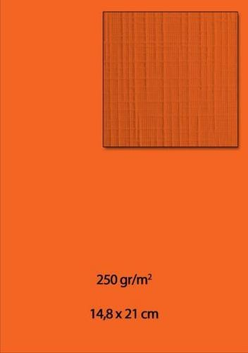 Leinenkarton A5 DAMAST ORANGE ( 10 Stück )