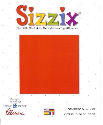 Sizzix Stanzform Originals LARGE Quadrat # 1 ( 9,5 cm )/ square # 1 38-0806