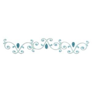 Border dekorativer Swirl mit Tropfen /swirls & teardrops 656 069