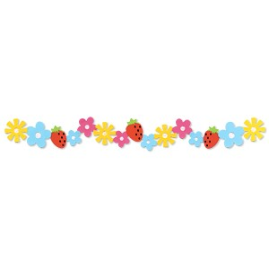 Sizzlits Border Hello Kitty Blumen u. Erdbeeren 656 124