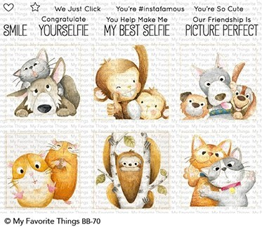 My Favorite Things Clearstempel-Set Tiere im Rahmen / Picture Perfect BB-70