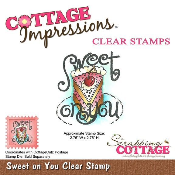 Cottage Cutz Clear Stamp Sweet on you SC CIC-015-C