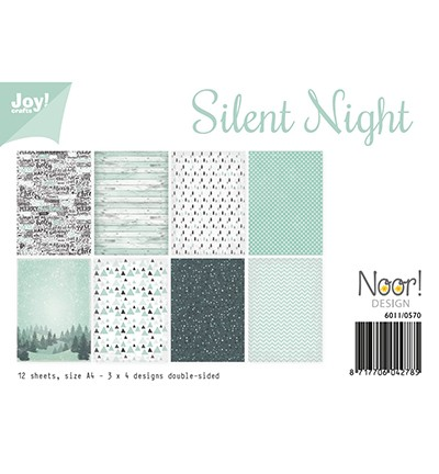 JoyCrafts Papier-Set A 4 Silent Night 6011/0570