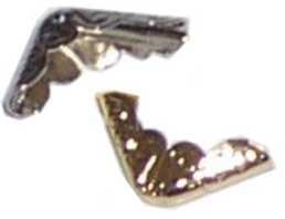 Metallecke SMALL SILBER rund 10565