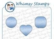 Whimsy Stamps Stanzform Kreis, Quadrat u. Herz MINI / Tiny Shapes WSD217