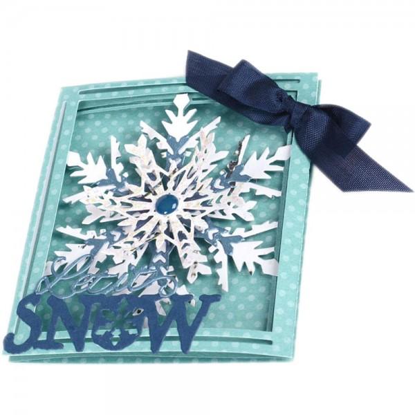 Sizzix Thinlits Stanzform Schneeflocken--Karte 3-fach gefaltet / Trifold Card Snowflake 661555