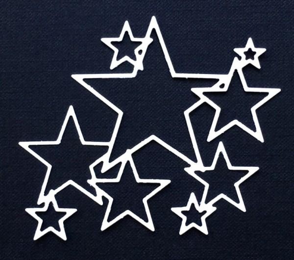 Gummiapan Stanzform verschlungene Sternen-Rahmen / Kopplade Stjärnor D160411