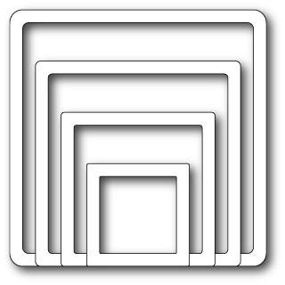 Memory Box Stanzform Shaker Quadrat / Quadrat-Rahmen / Shaker Square Frames 30030
