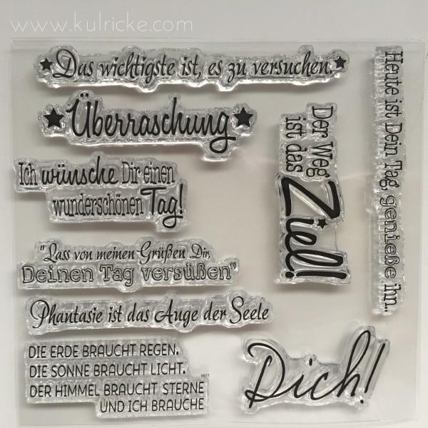 Kulricke Clear Stempelset ' Dich ' SST065