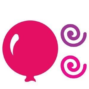 AccuCut Zip'e Slim Stanzform MEDIUM Luftballon & Wirbel / Big Balloon & Swirls 41471