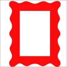 """Allstar Rahmen wellig / frame wavy 2 """" x 3 """" A 10380"""